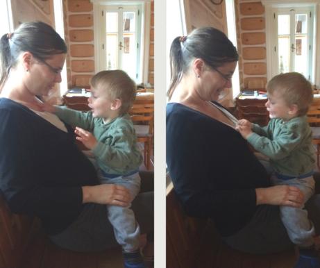 máma abatole se domlouvají naodložení kojení